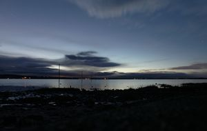 Evening Shot of Holy Island Causeway