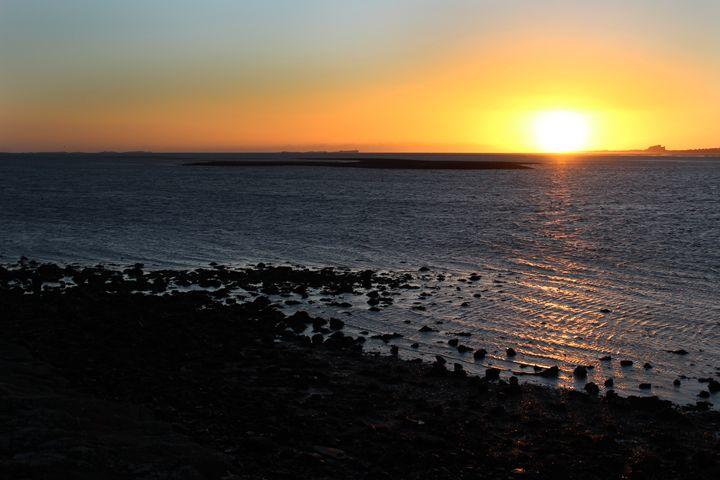 Sunset on the Holy Island - Eddie Hurren