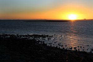 Sunset on the Holy Island
