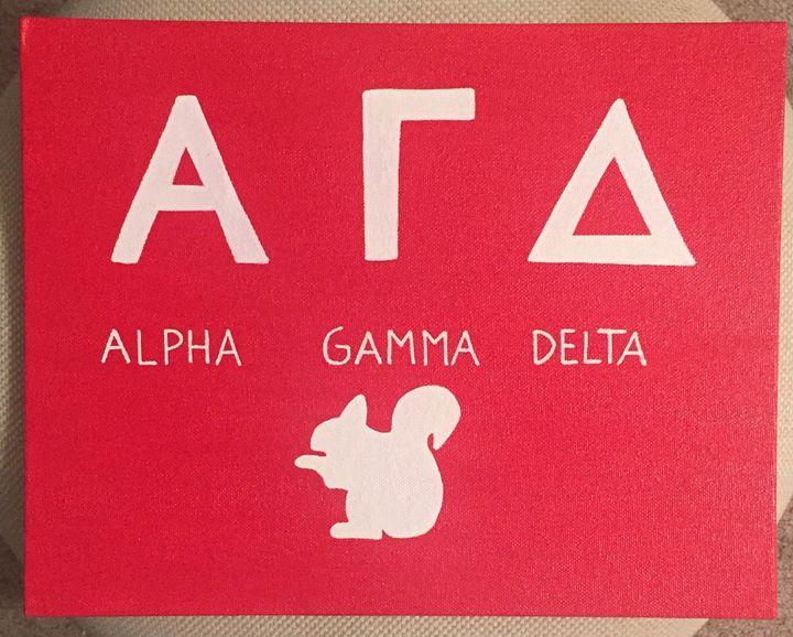 Alpha Gamma Delta - Colorful Rebecca