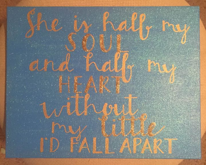 Without my little I'd fall apart - Colorful Rebecca