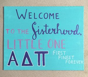 Alpha Delta Pi- Welcome