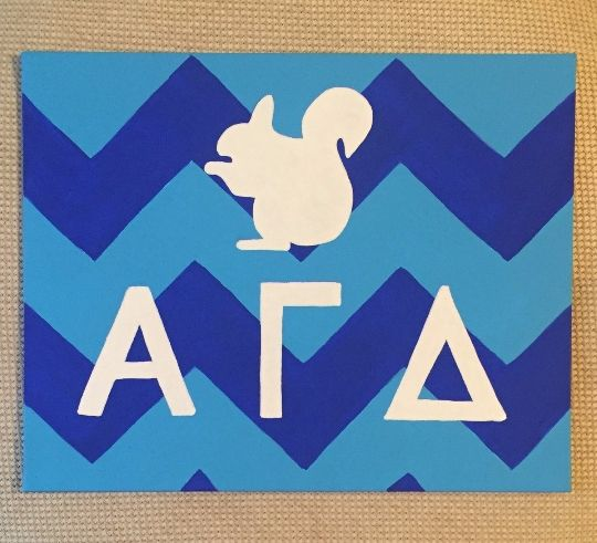 Alpha Gamma Delta blue chevron - Colorful Rebecca