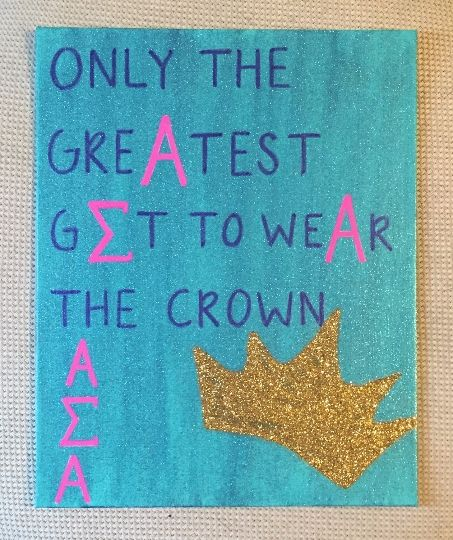 Alpha Sigma Alpha- Crown - Colorful Rebecca