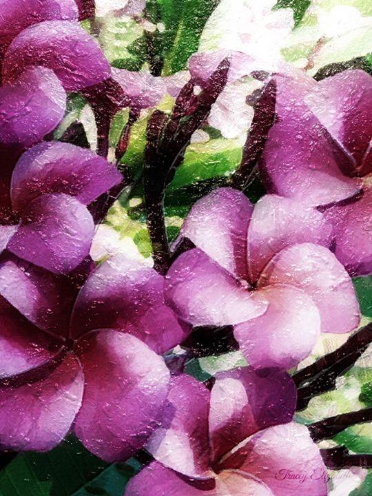 Purple Blooms - T. Elizabeth Originals