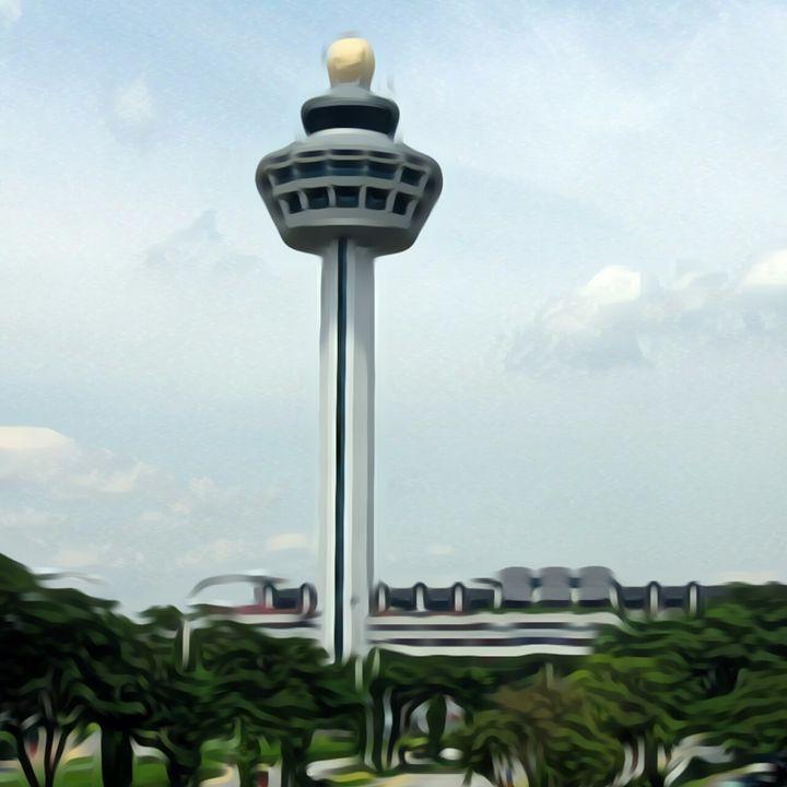 Singapore Airport ATC Tower - Amitabh's Arts
