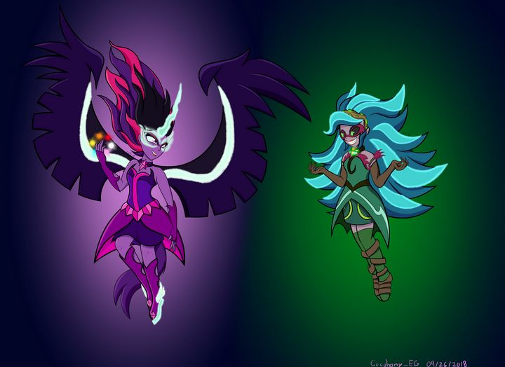 Midnight Sparkle VS Gaia Everfree - Cacophony_EG