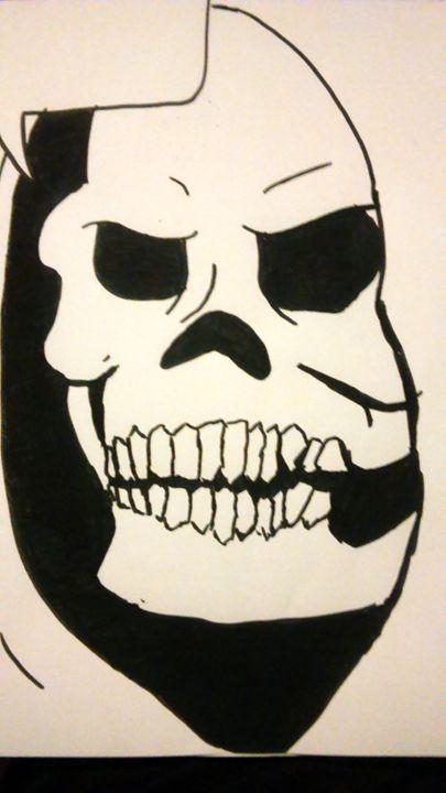 Sketltor black ink drawing - Xtrabutter