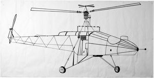 Old school helicopter