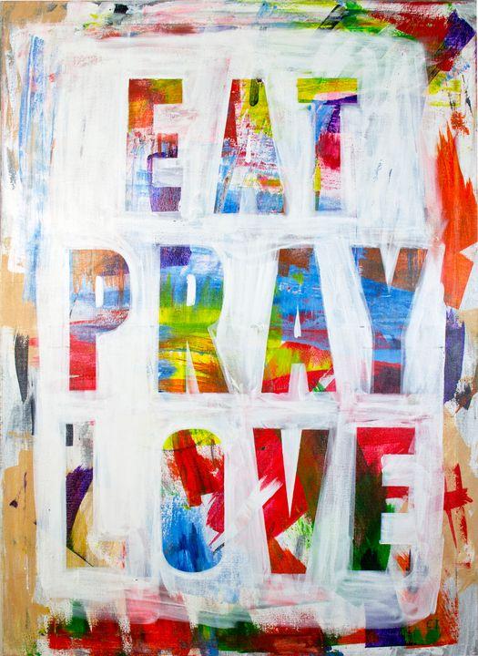 Eat Pray Love painting - Ikovleva art