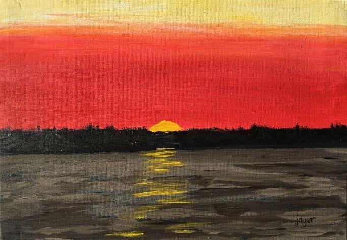 Algonquin Sunset - Jon Dyer Original Paintings