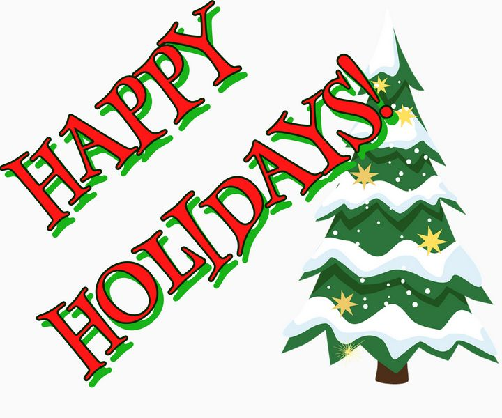 Happy Holidays - Christmas Tree - SPLAT!