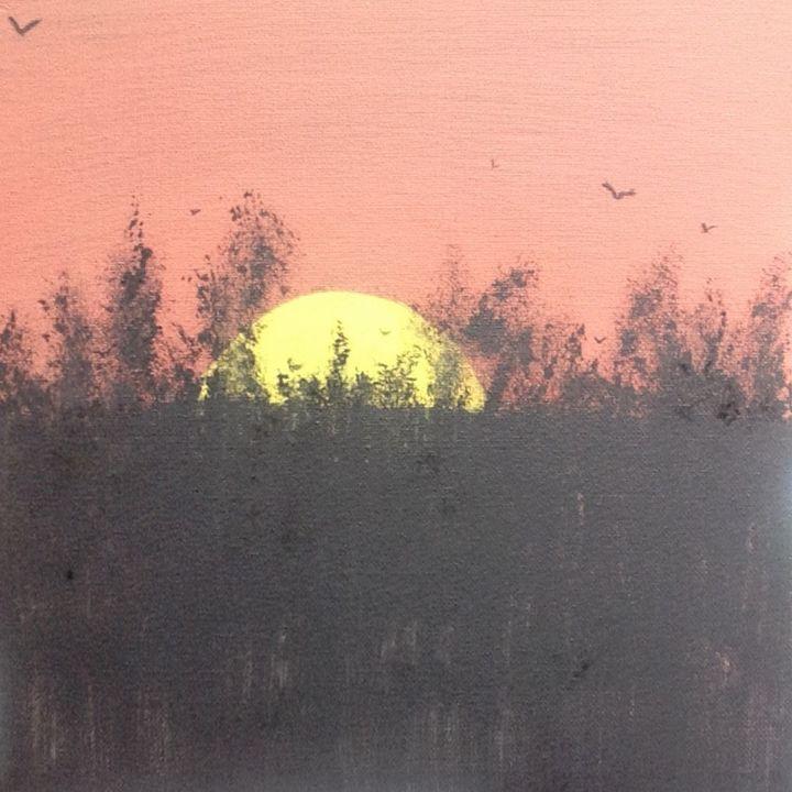 Sunset Over the Woods - SPLAT!