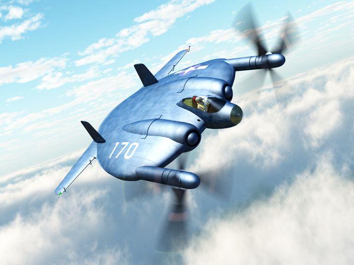 "Vought XF5U ""Flying Flapjack"" - Mario Merino"