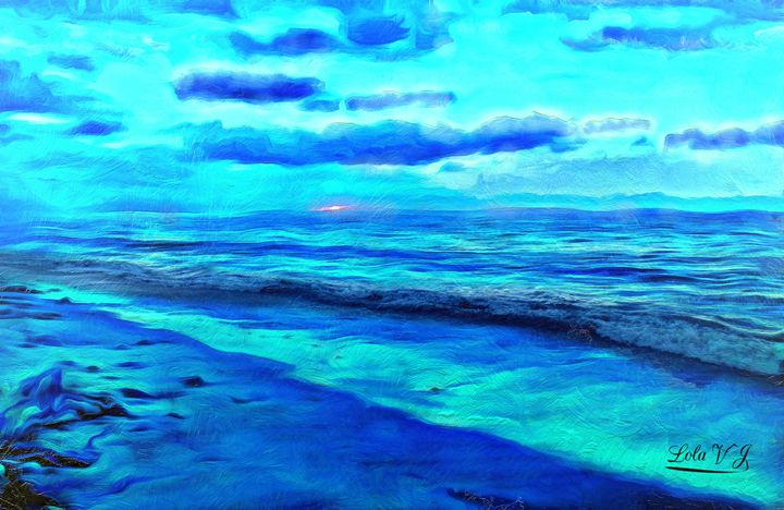 My Blue Beach - Your Treasures by Lola