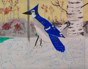 Blue Jay - Faux Paint by Numbers - Peter Rowe