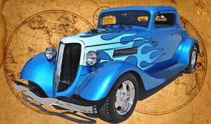 1934 Ford Coupe Hot Rod - Ed Mace