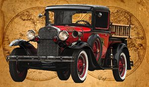 1931 Ford Model A Fire Truck - Ed Mace