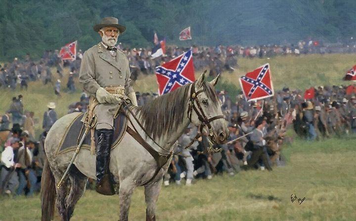 Gen Robert E Lee and traveller - Ed Mace