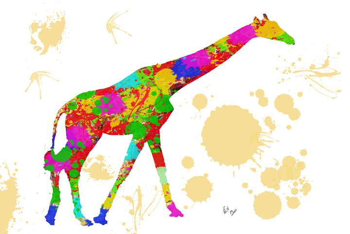 Splatter paint giraffe - Ed Mace