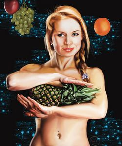 Girl with pineappl - Yuriy812