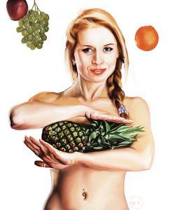 Girl with pineapple - Yuriy812