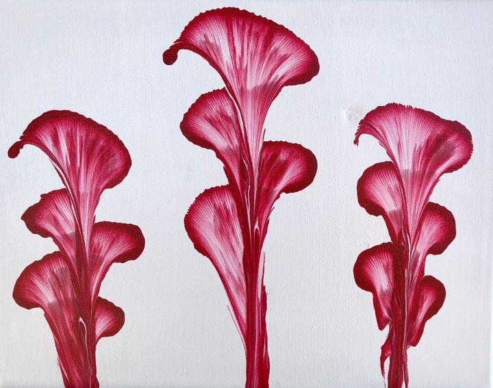 Abstract Flowers - MunchyAngel Art