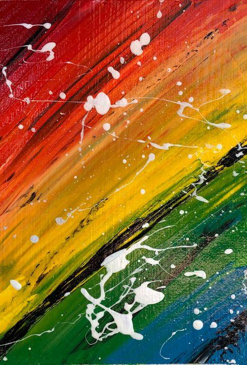 Rainbow Abstract - MunchyAngel Art