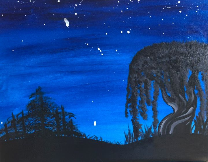 Night landscape - MunchyAngel Art