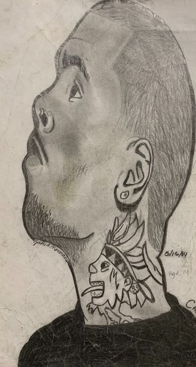 First attempt of Chris Brown - My History Of Art