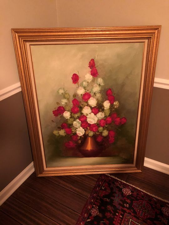 Ann Julia Rant Oil Painting of Roses - Ann Julia Rant Painting