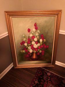Ann Julia Rant Oil Painting of Roses