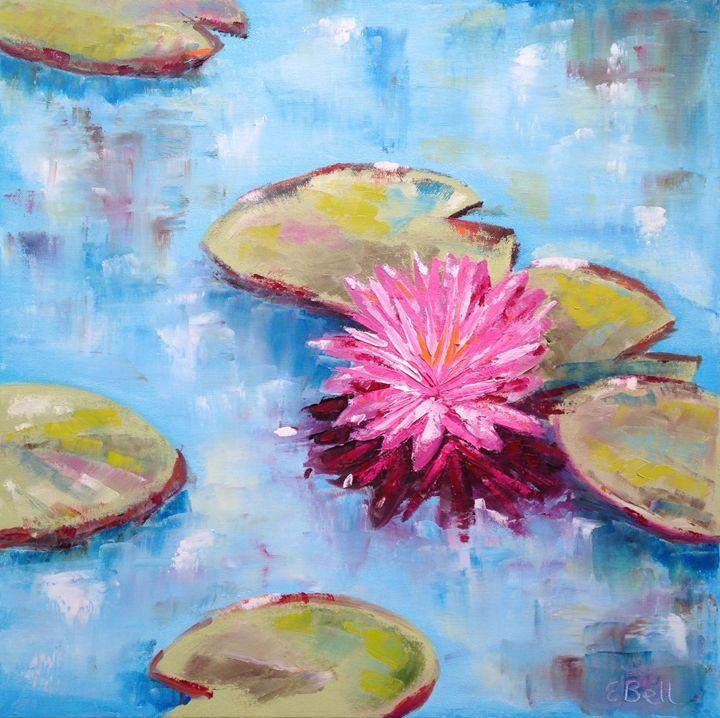 Water lilies Impression - Emma Bell Fine Art