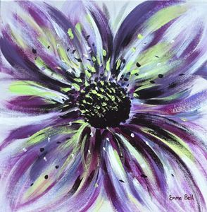 Purple Floral Burst