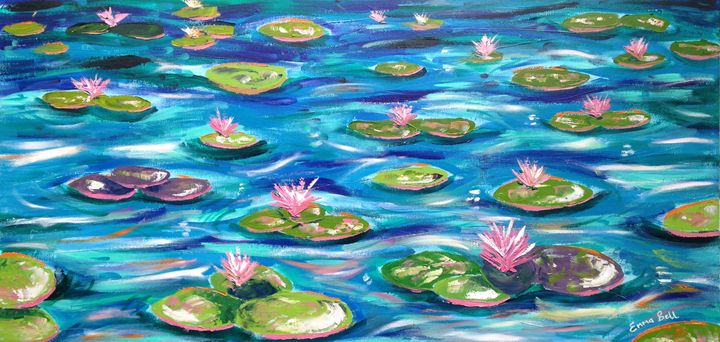 Lily Pond Impression 1 - Emma Bell Fine Art