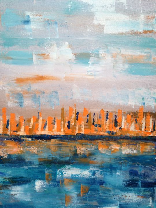 bstract City Scape - Emma Bell Fine Art
