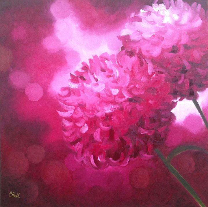 Bright Pink Floral - Emma Bell Fine Art
