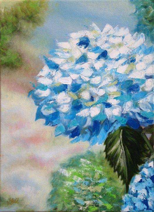 Blue Hydrangeas - Emma Bell Fine Art
