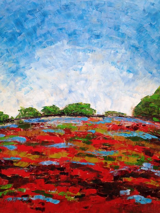 Poppy Field - Emma Bell Fine Art