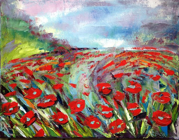 Poppy Field Impression - Emma Bell Fine Art