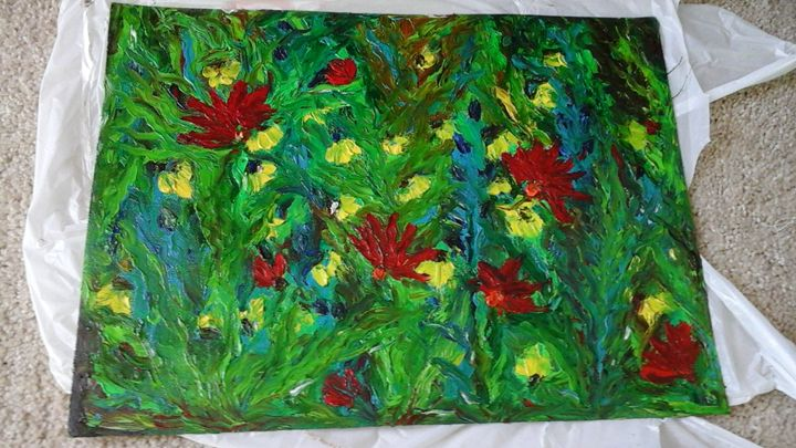Finger Painting - Oil Paintings