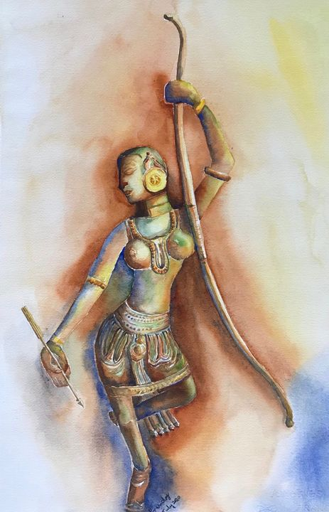 Lady with a bow and arrow - Prasiday