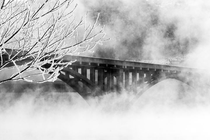Bridge Over Foggy Waters - Persinger Creations