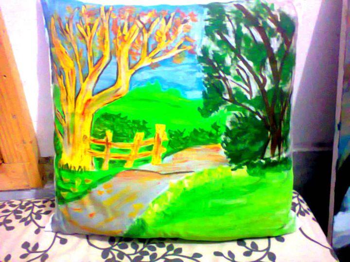 Hand Painted Pillow - Ahsan iqbal