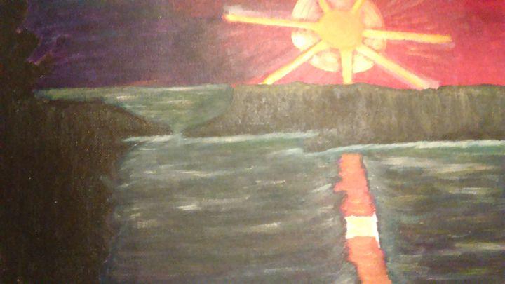 """ Sunrise on the Ocean"" - Cynthia L. Thompson"
