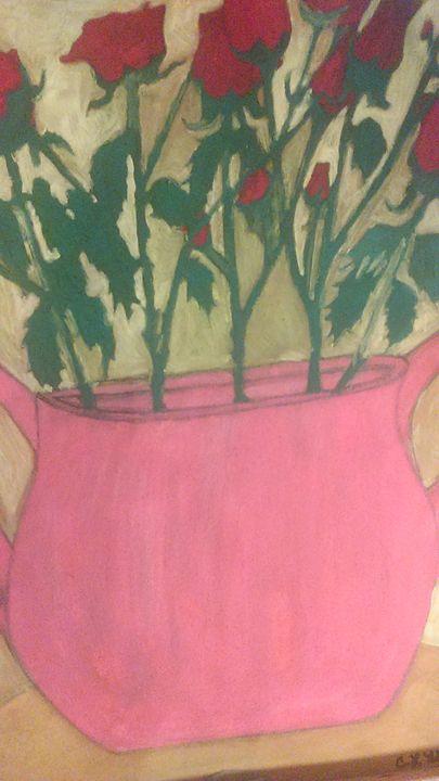 """ Flower's in a vase"" - Cynthia L. Thompson"