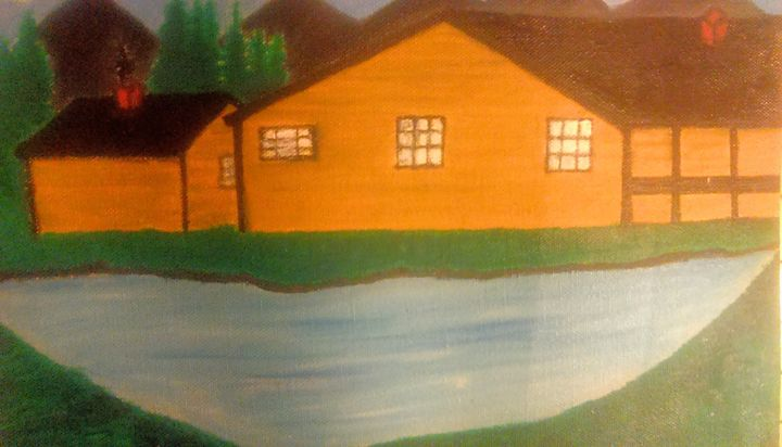 """ Cabin in the Mountains"" - Cynthia L. Thompson"