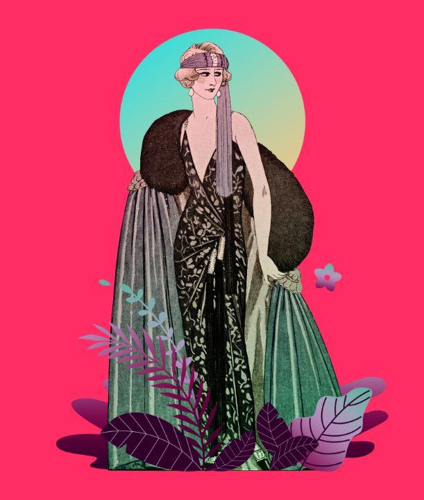 French Fashion Illustration (1923) - BreezyBlueFish99
