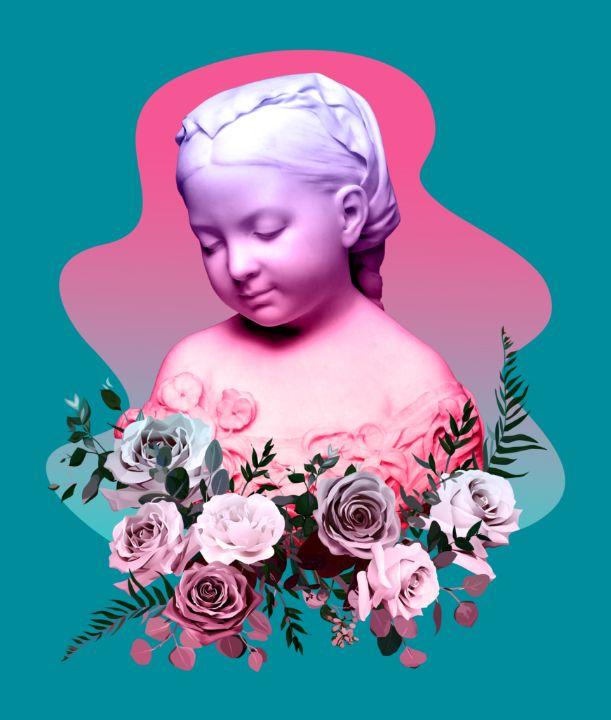 Sculpture of youthful thinker - BreezyBlueFish99