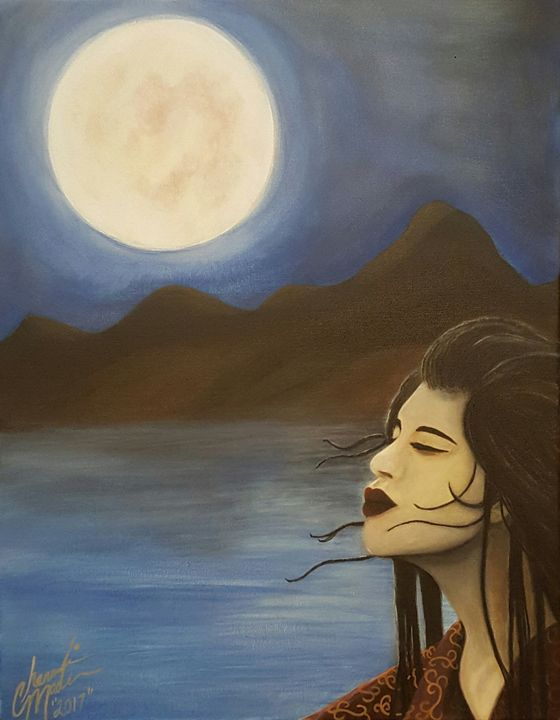 """Midnight Moon In Japan"" - Meaningful Moments Artwork"